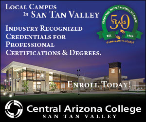 Central Arizona College Geo-Targeted Ad