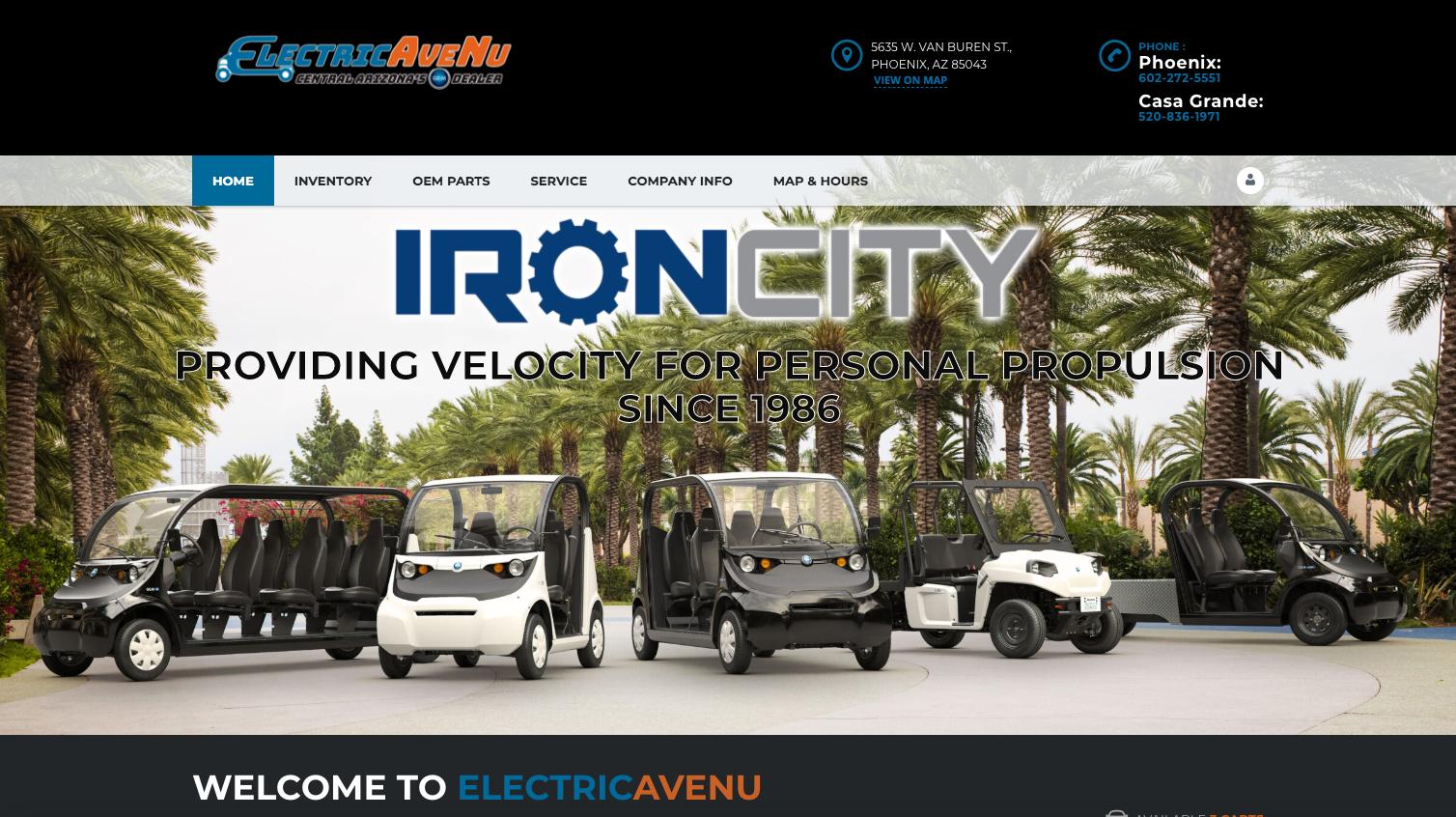 Web Design Electric AveNu