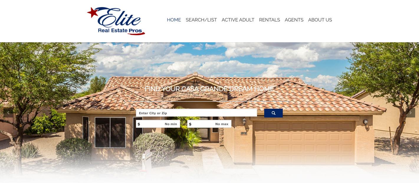 Elite Real Estate Pros Website Design