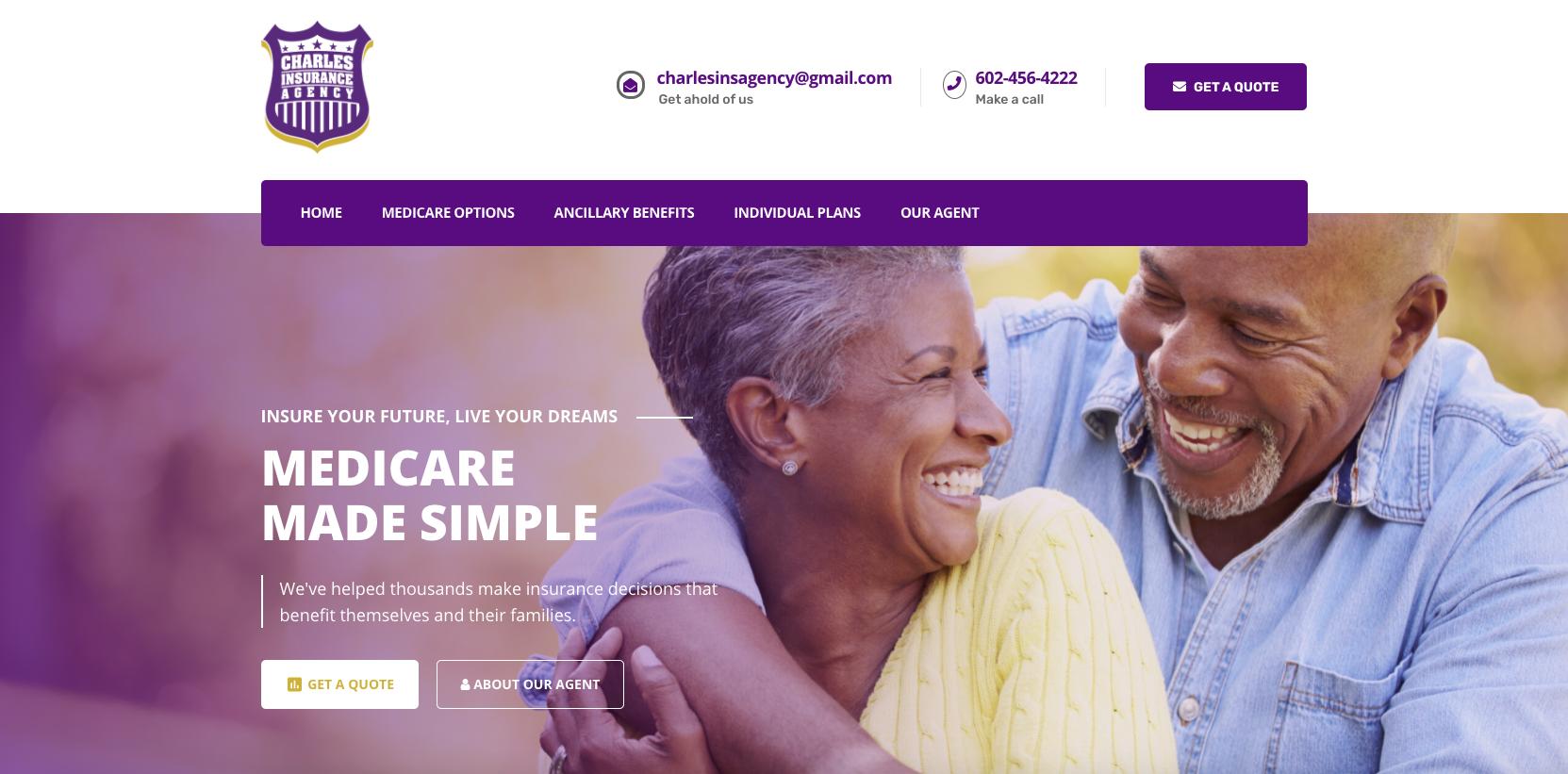 Charles Insurance Agency Blossom Digital Marketing Website Design